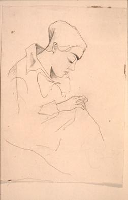 Naaiende vrouw (Lena Milius)