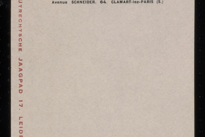Typografie voor De Stijl, memorandumpapier