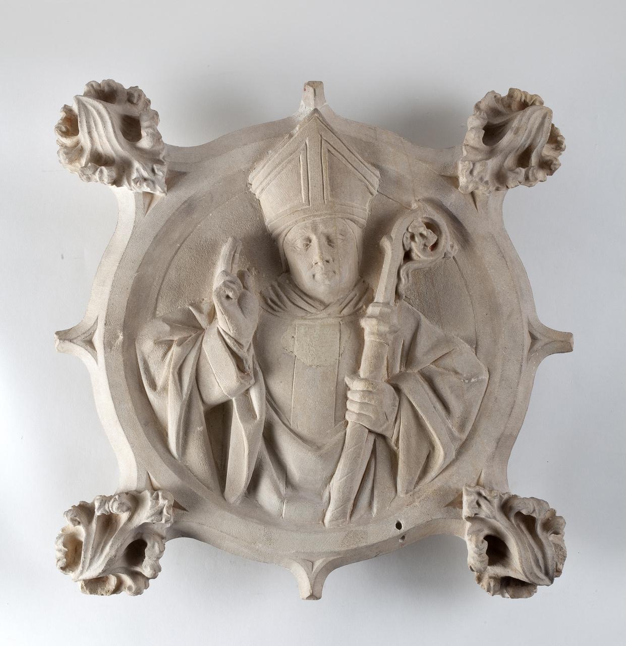 5/5 - Anoniem Utrechts, Gewelfschotel met heilige bisschop, ca.1460-1480
