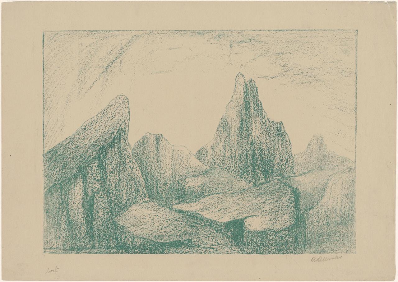 Berglandschap met rotspieken