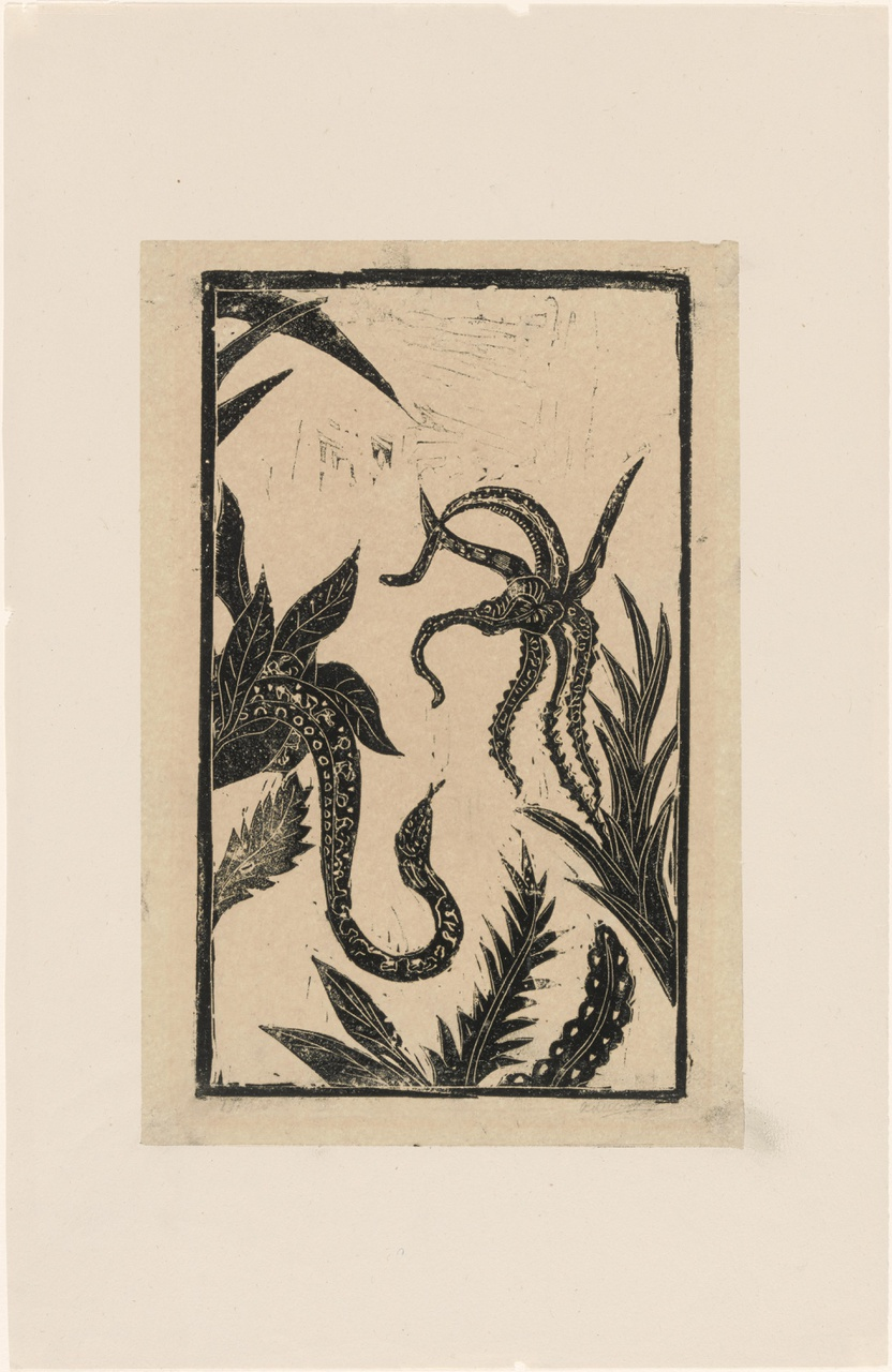 Sprookje van bloem en slang