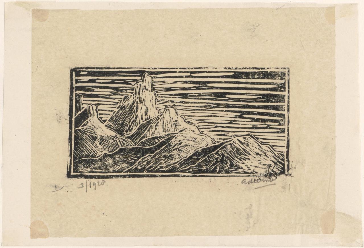 Klein berglandschap met rotspieken (Dolomieten)