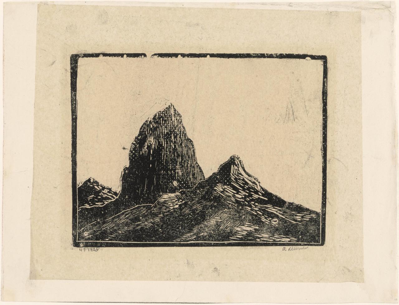 Groot berglandschap met rotspieken (Dolomieten)