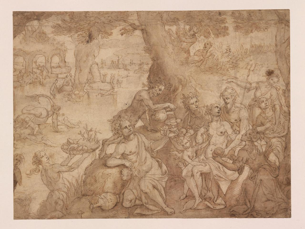 Neptunus en Amphitrite temidden van Bacchanten
