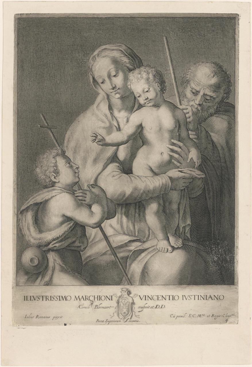 Maria met Christuskind, Jozef en Johannes