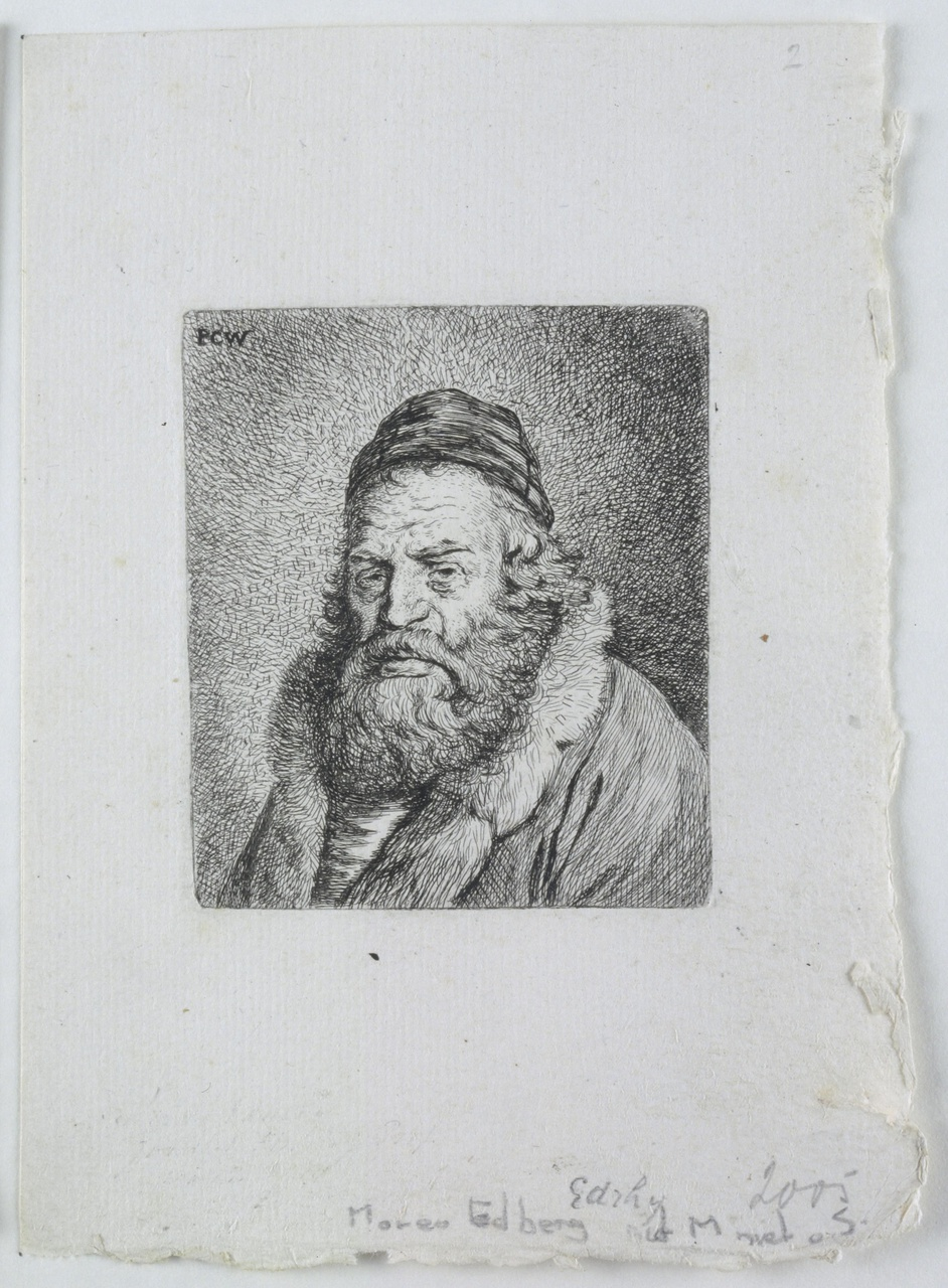 Portret van Mozes Ben Isaac Edrehi