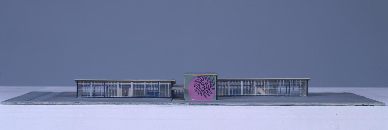 Maquette School voor zeer moeilijk lerende kinderen te Den Bosch