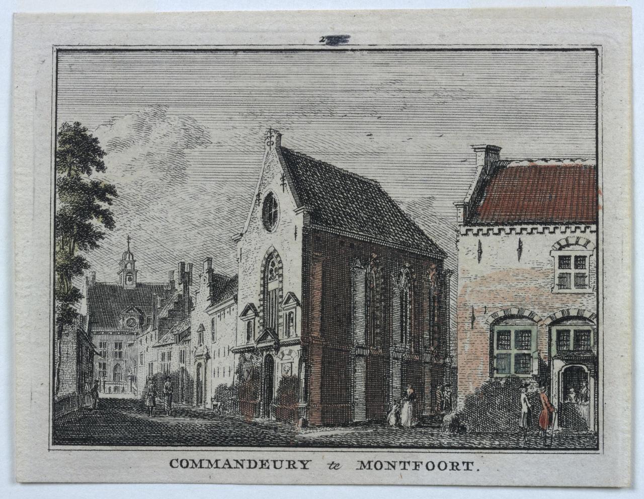 Gezicht op de Commanderij te Montfoort