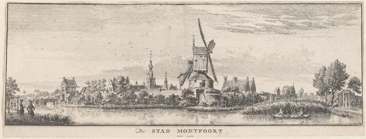 Gezicht op Montfoort vanuit het zuidwesten