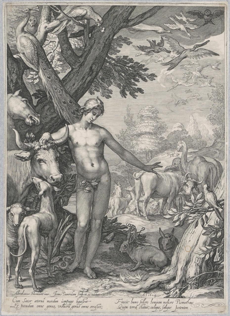 Adam geeft de dieren een naam (de geschiedenis van de eerste ouders van de mens)