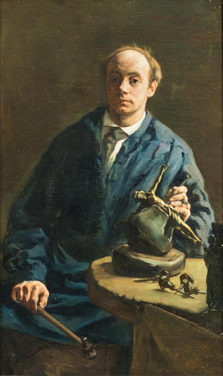 Portret van de Utrechtse edelsmid Jan Hendrik Brom (1860-1915)