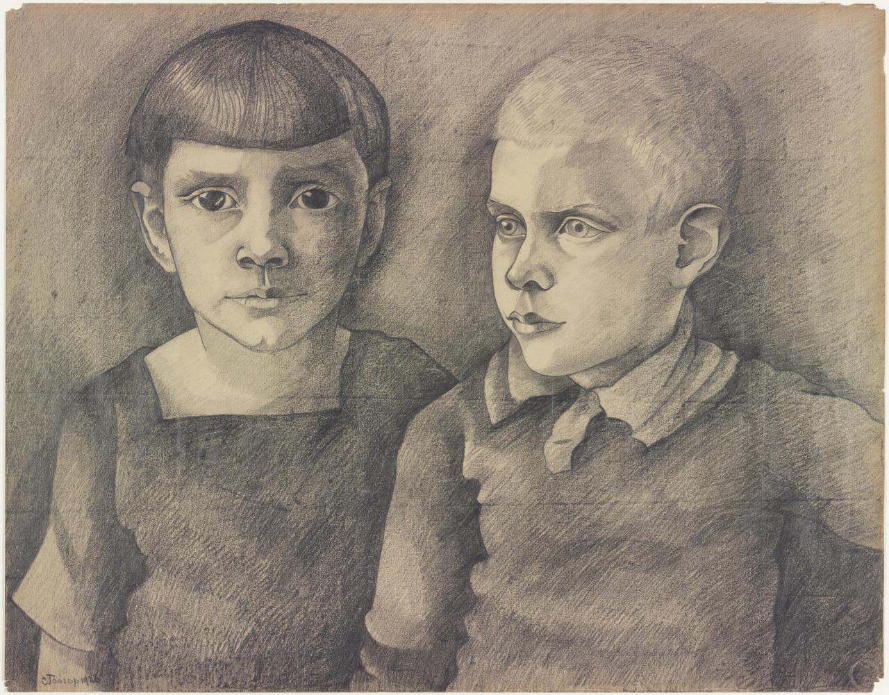Portret van twee kinderen
