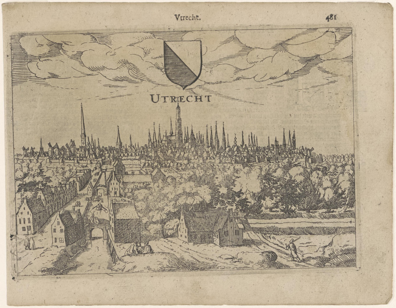 Gezicht op de stad Utrecht