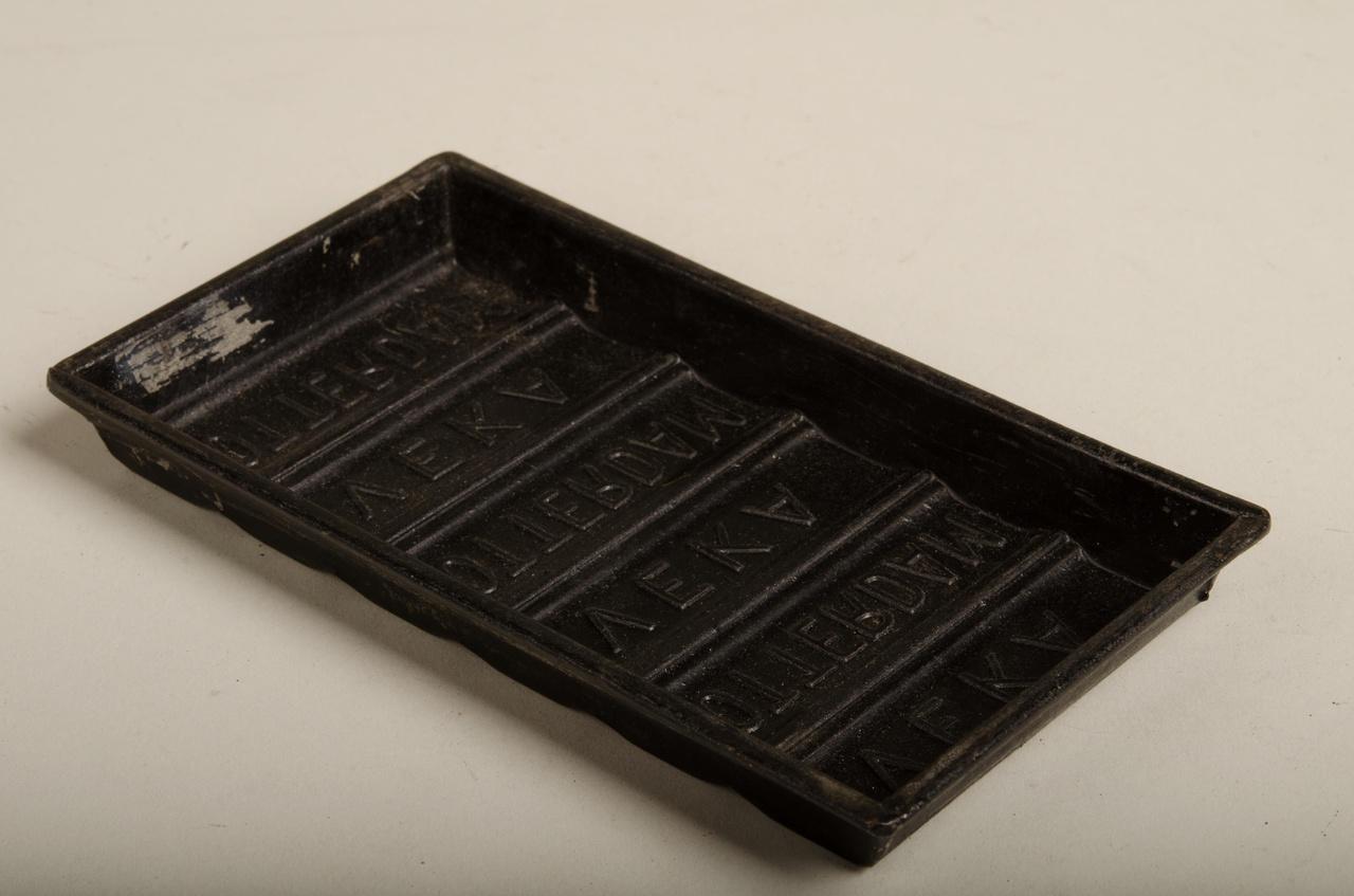 Chocoladevorm voor plak
