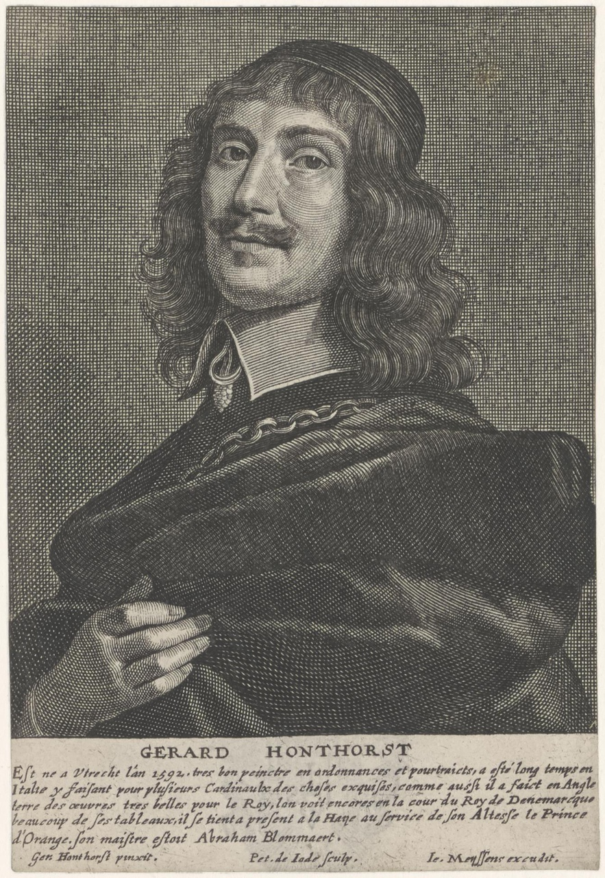 Portret van Gerard van Honthorst