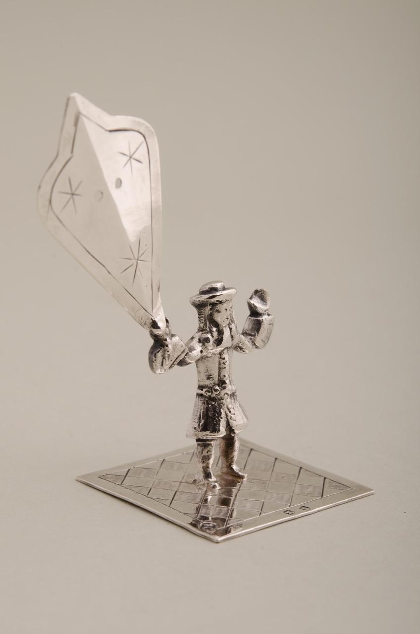 Man met vlieger (miniatuur)