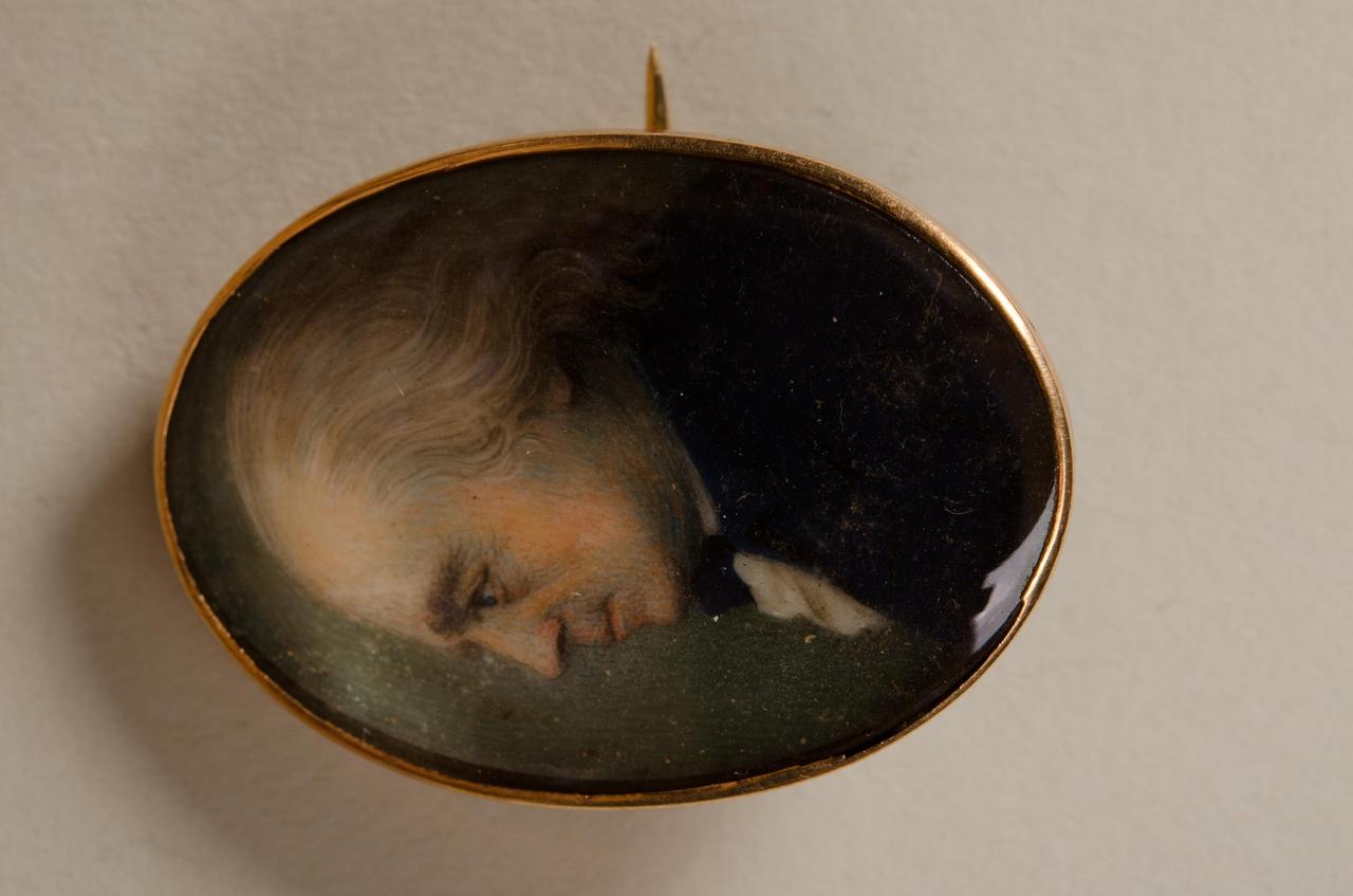 Broche met miniatuurportret van Adriaan Hendrik Eyck