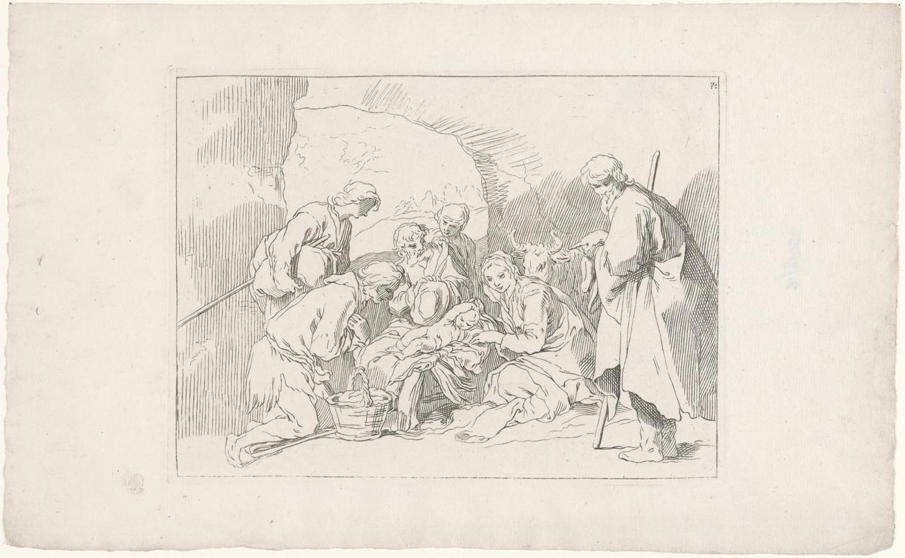 Studie voor de Aanbidding der herders