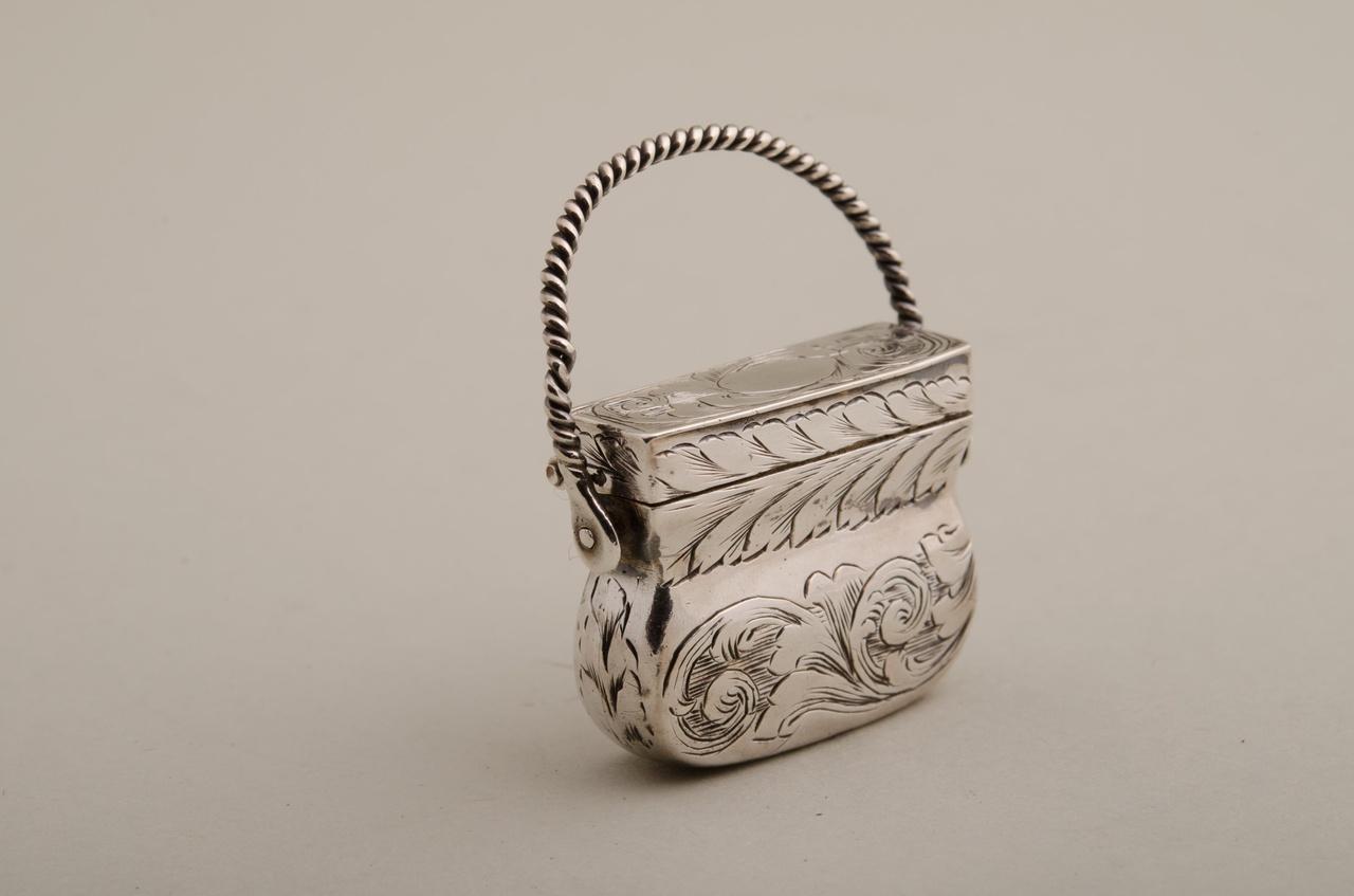 Reukdoosje in de vorm van een tas (miniatuur)