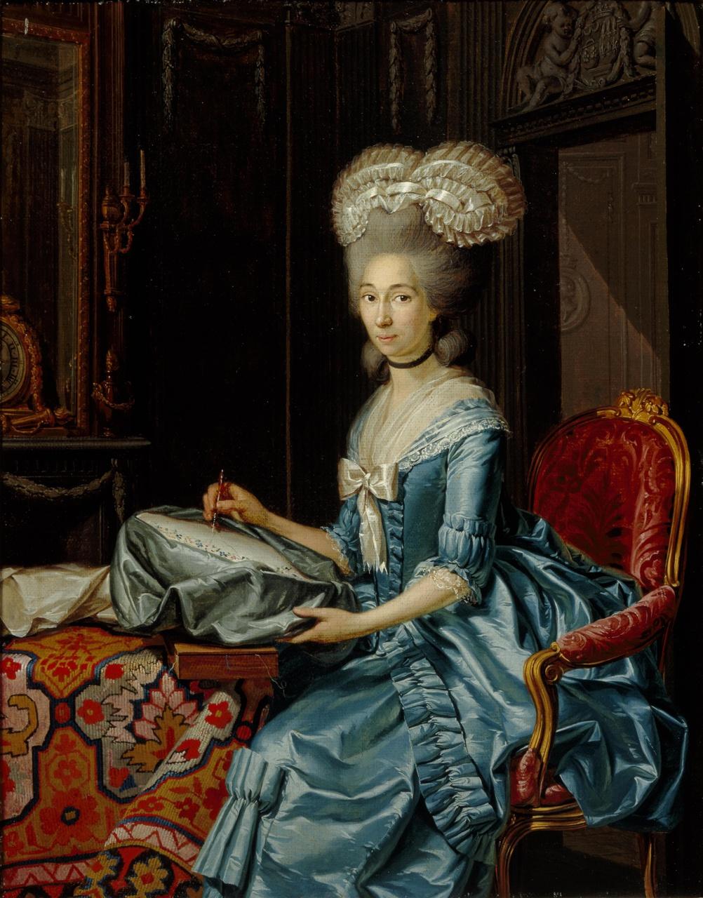 Portret van Arnolda Wilhelmina Brantsen (1751-1807), echtgenote van Joan Andreas Cunaeus