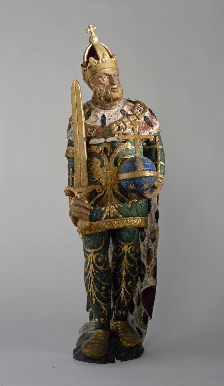 Gevelversiering met beeld van keizer Karel V