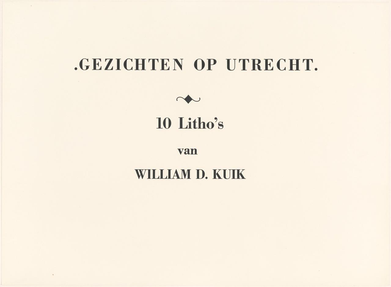 Titelblad 2 van de map Gezichten op Utrecht
