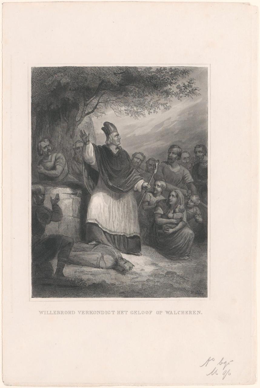 Willibrord verkondigt het geloof op Walcheren