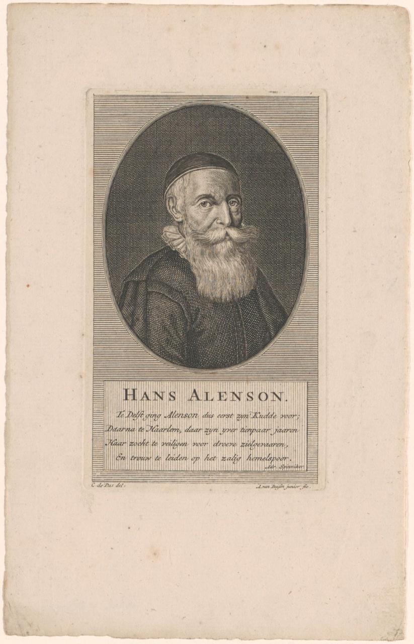 Portret van Hans Alenson