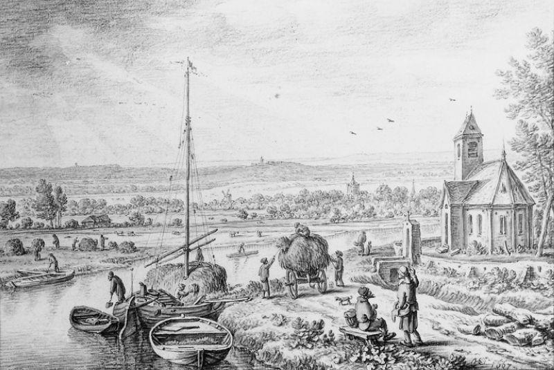 Rivierlandschap ('Juli')
