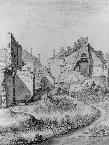 Vervallen huizen aan de Weerdpoort