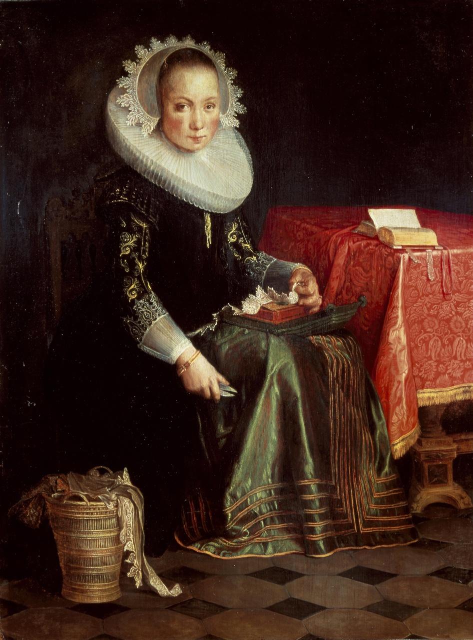 Portret van Eva Wtewael (1607-1635)