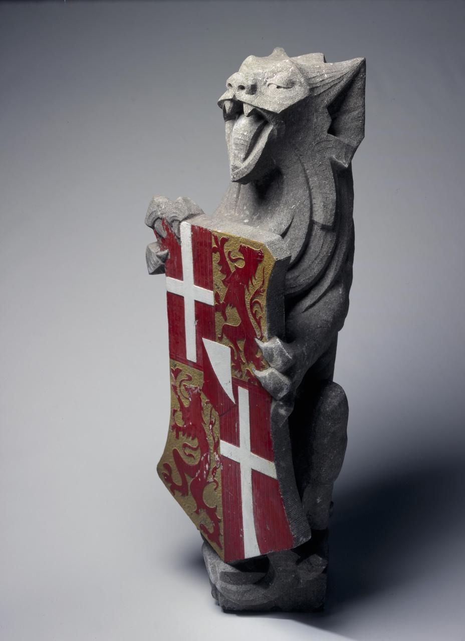 Leeuw met wapen van de provincie Utrecht