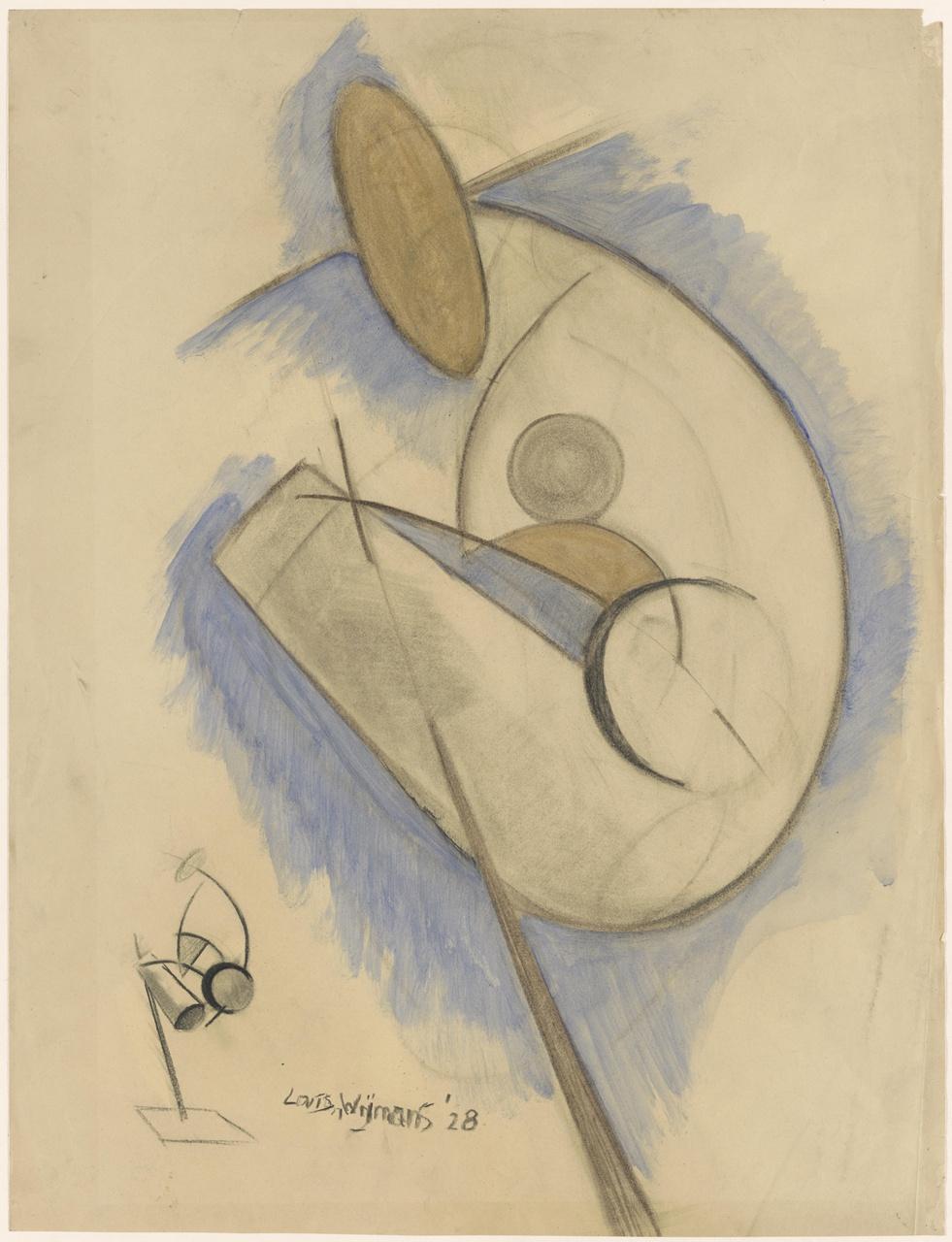 Studie van een gebogen figuur; verso: Studie knielende vrouw