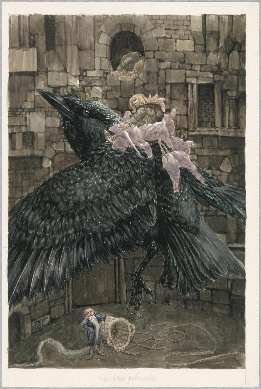Illustratie voor het sprookje 'De drie gebroeders'