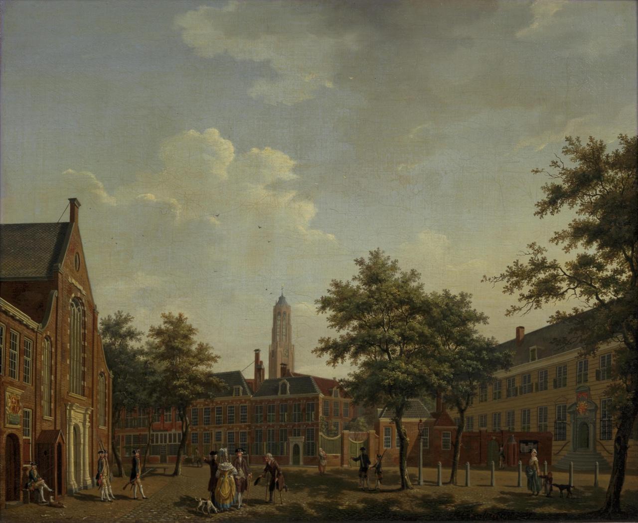 Het Janskerkhof te Utrecht