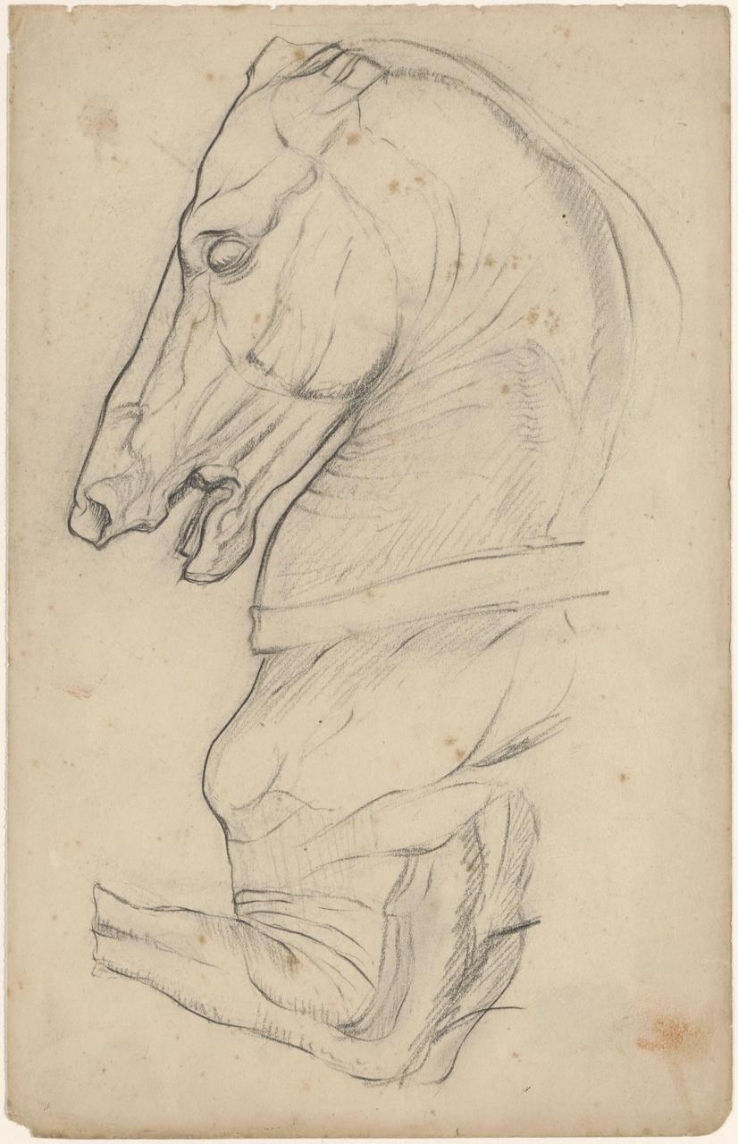 """Studie voor """"Symbolische voorstelling met een paard"""""""