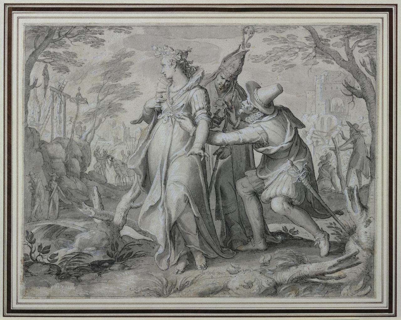 De Nederlandse Maagd bedreigd door de katholieke kerk en het Spaanse leger
