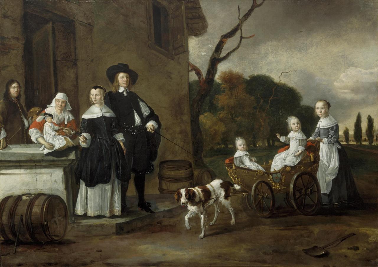 Portret van de familie Van Wijkersloot