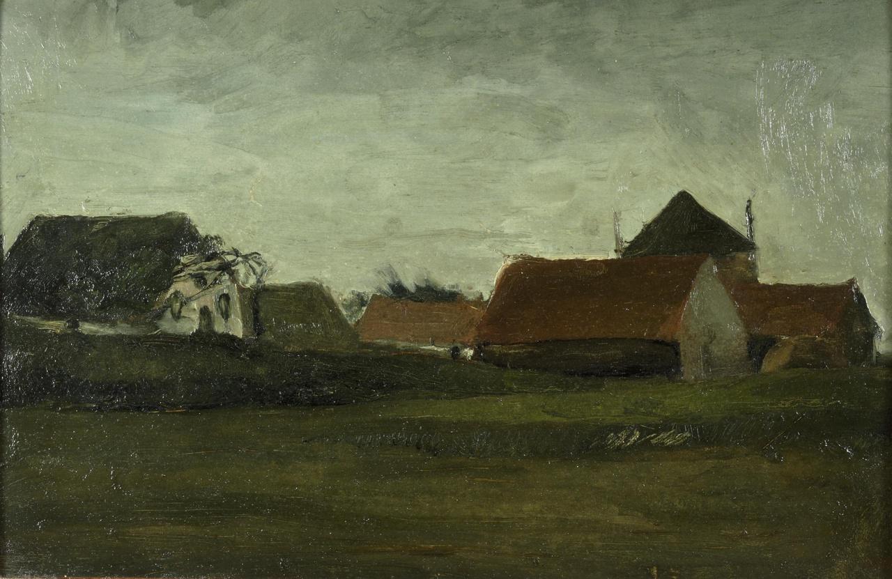 Schemering (Oude boerderijen te Loosduinen)