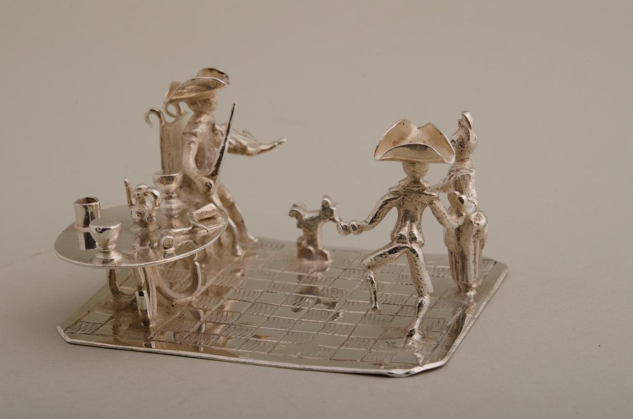 Violist en dansend paar (miniatuur)