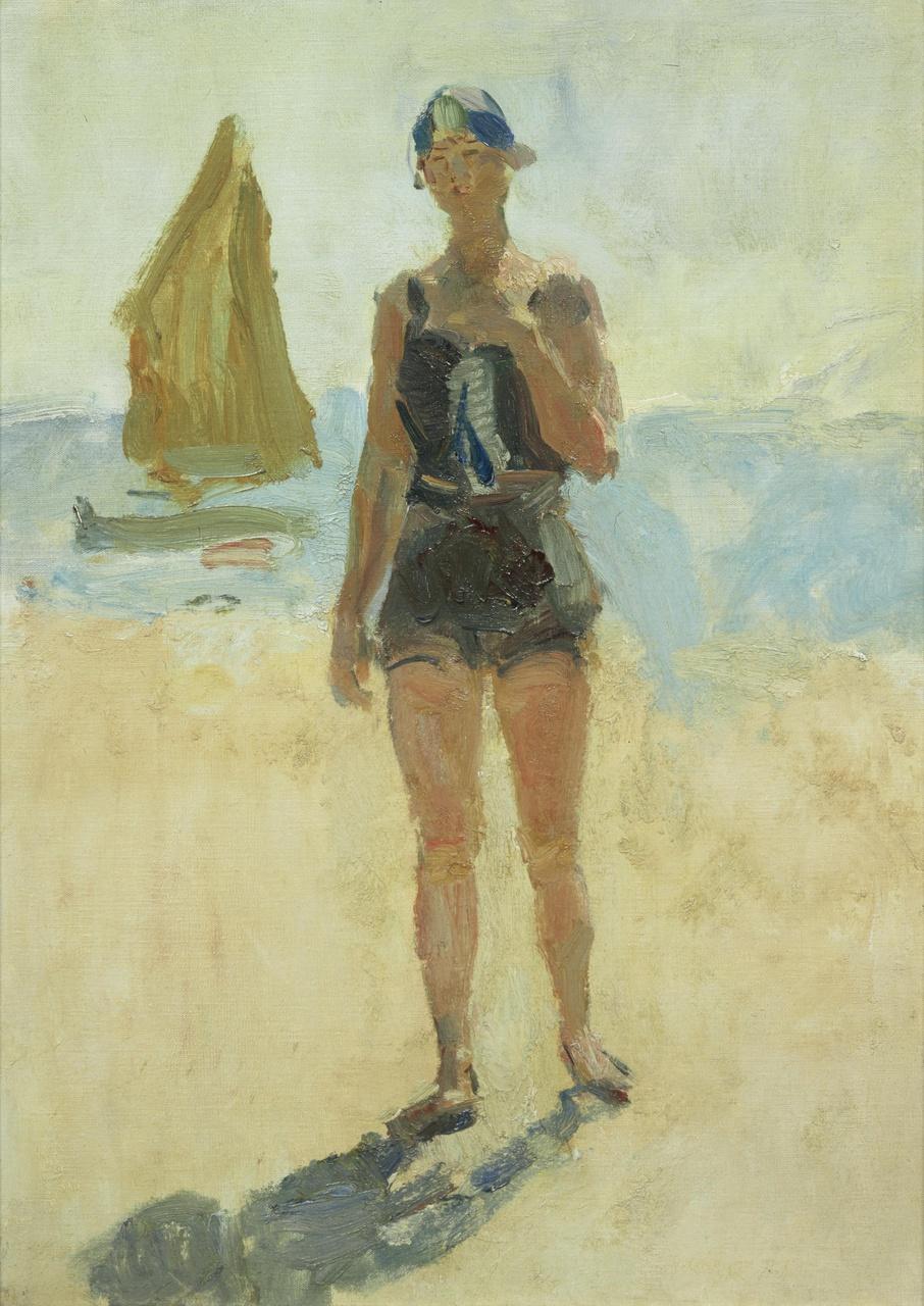 Meisje aan het Lido