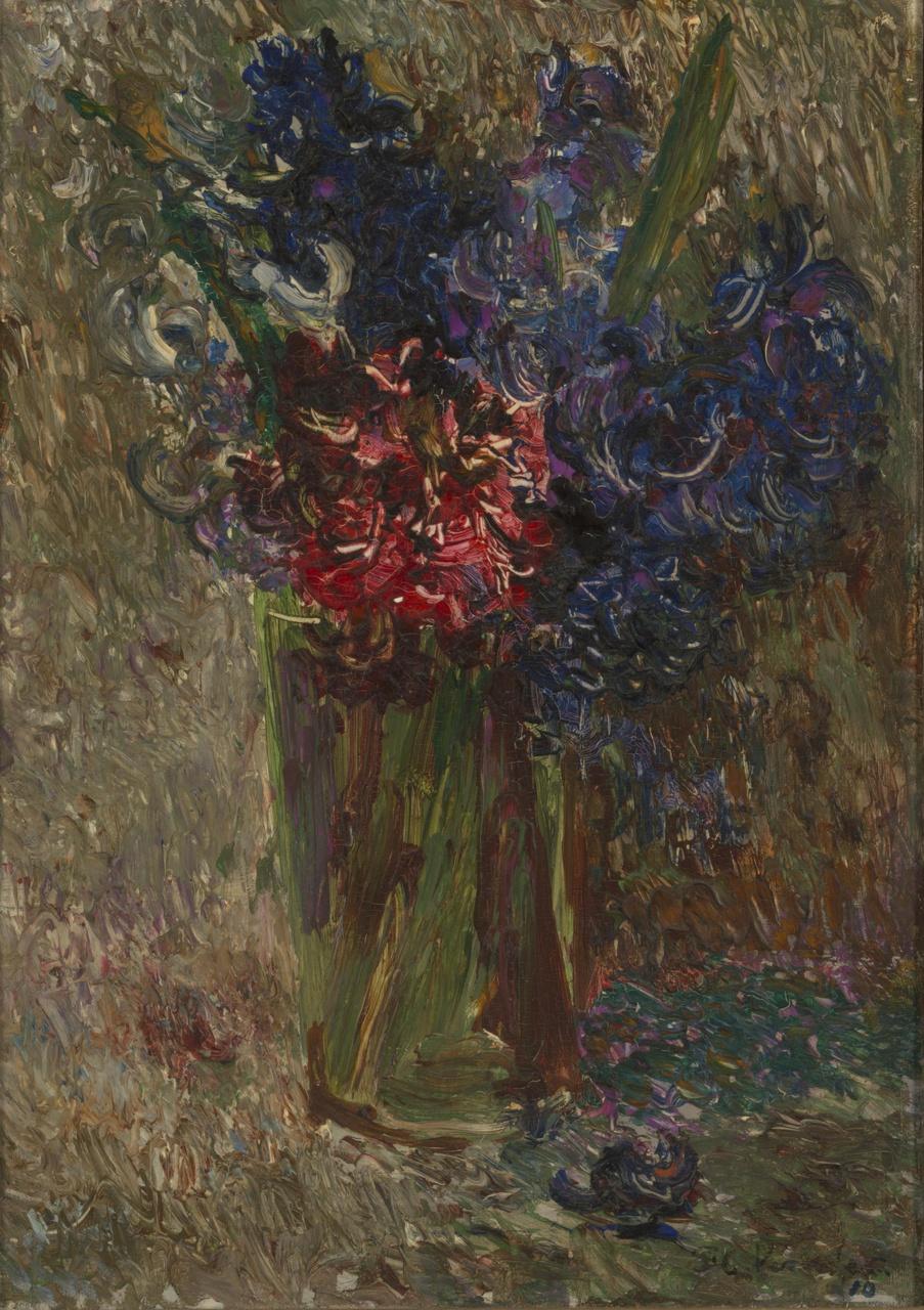 Glas met hyacinten