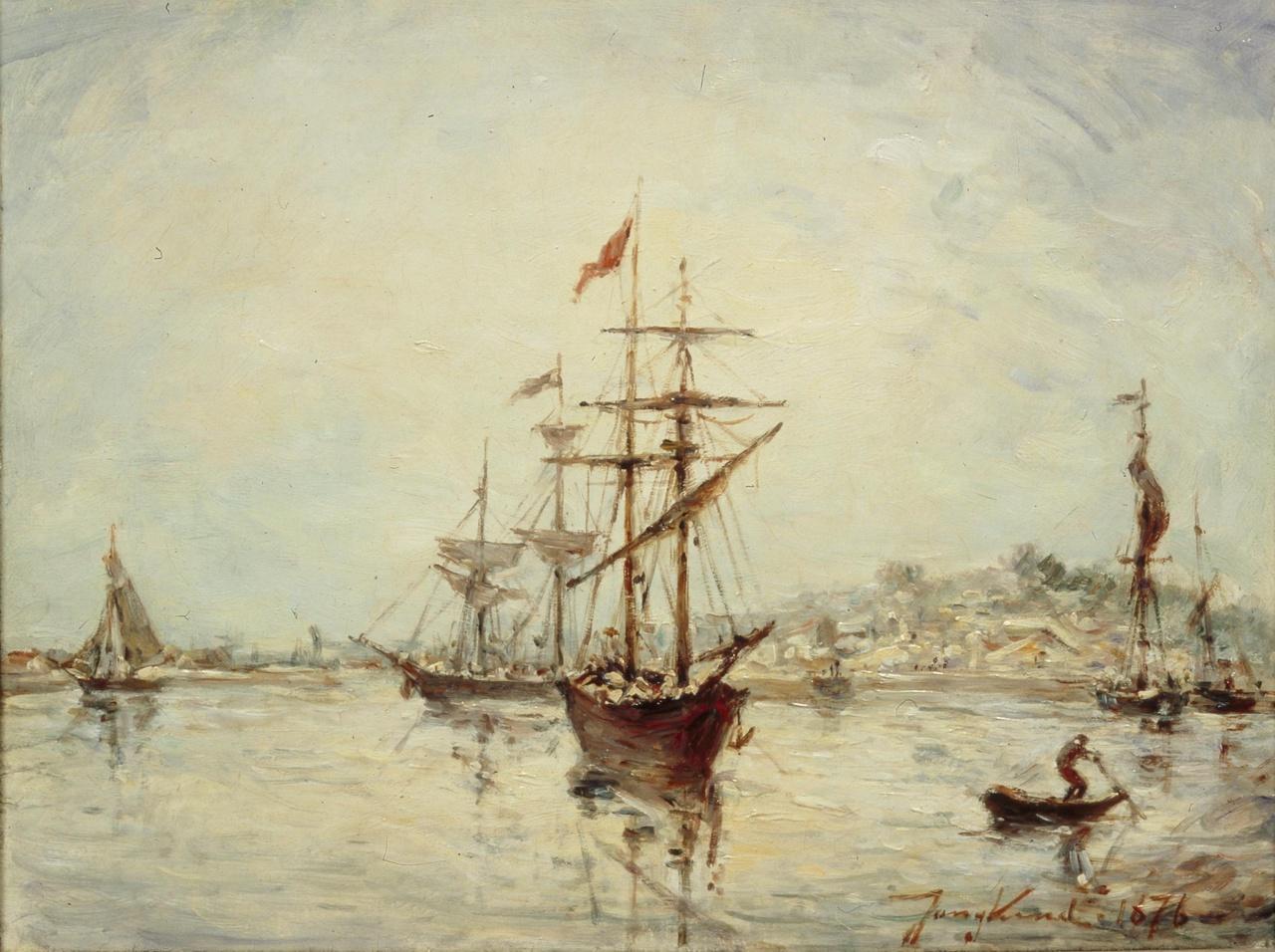 Haven van Honfleur bij laag water