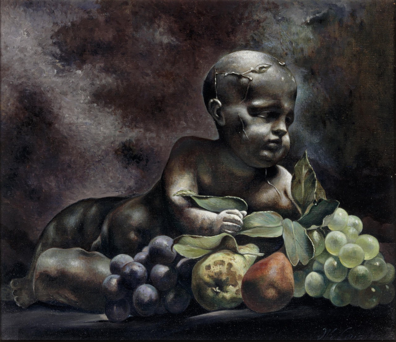 Putto en stilleven van fruit