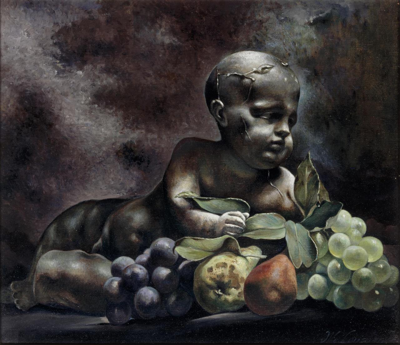 Putto en stilleven van fruit