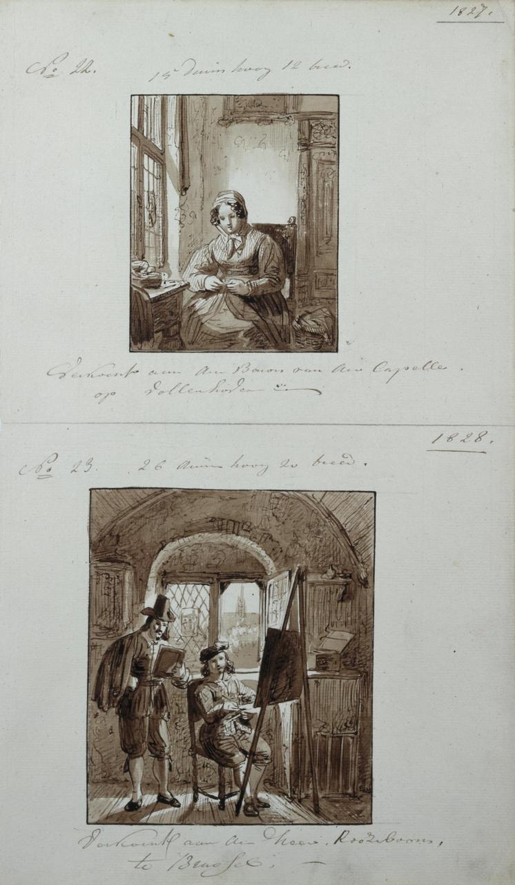 Vrouw aan het handwerken