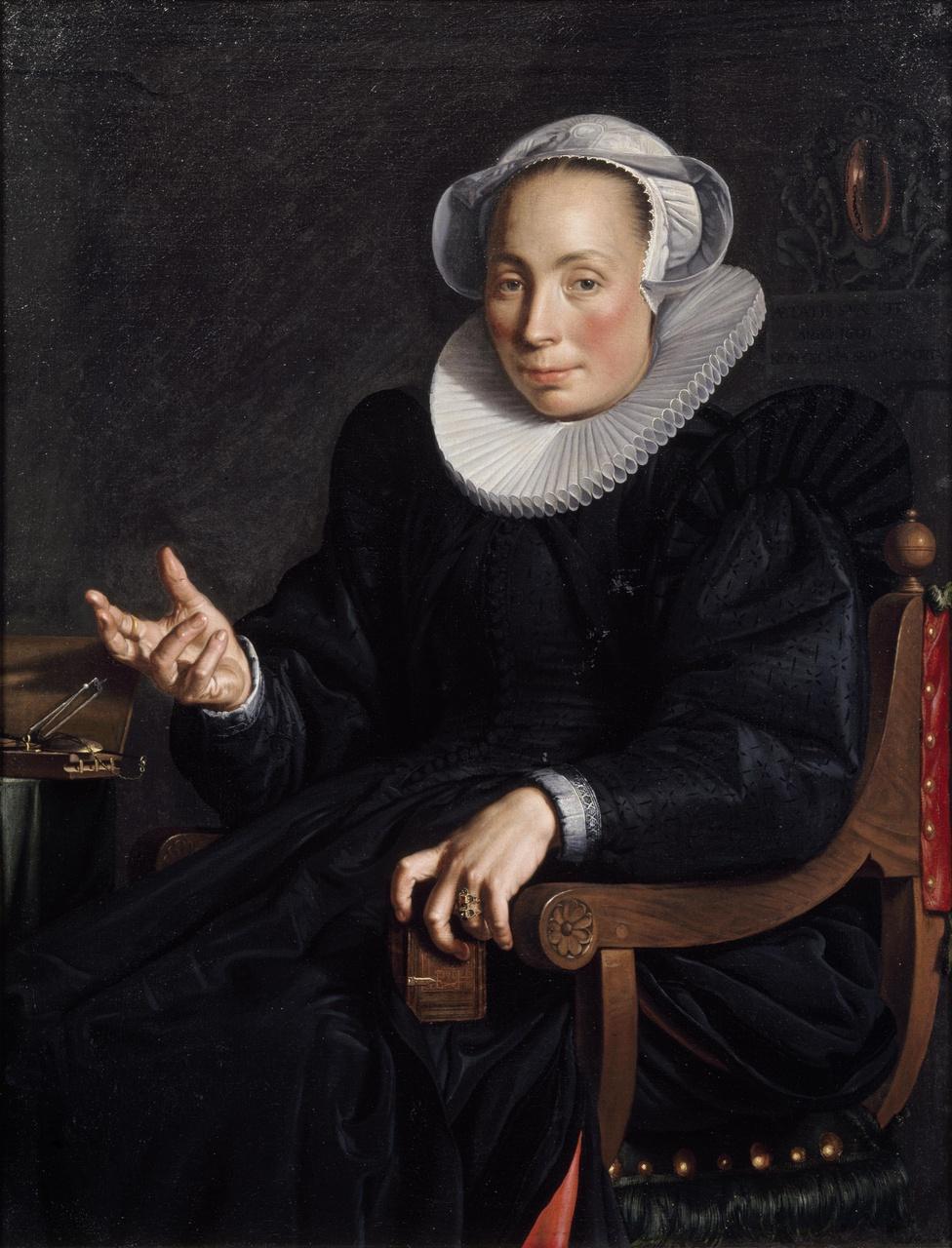 Portret van Christina van Halen (1568-1629), echtgenote van Joachim Wtewael