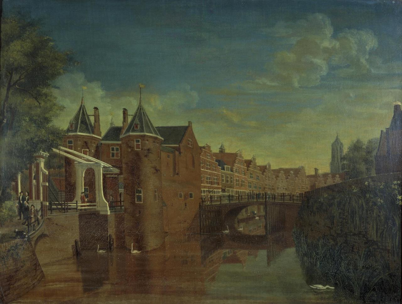 De Weerdpoort met de Zandbrug te Utrecht
