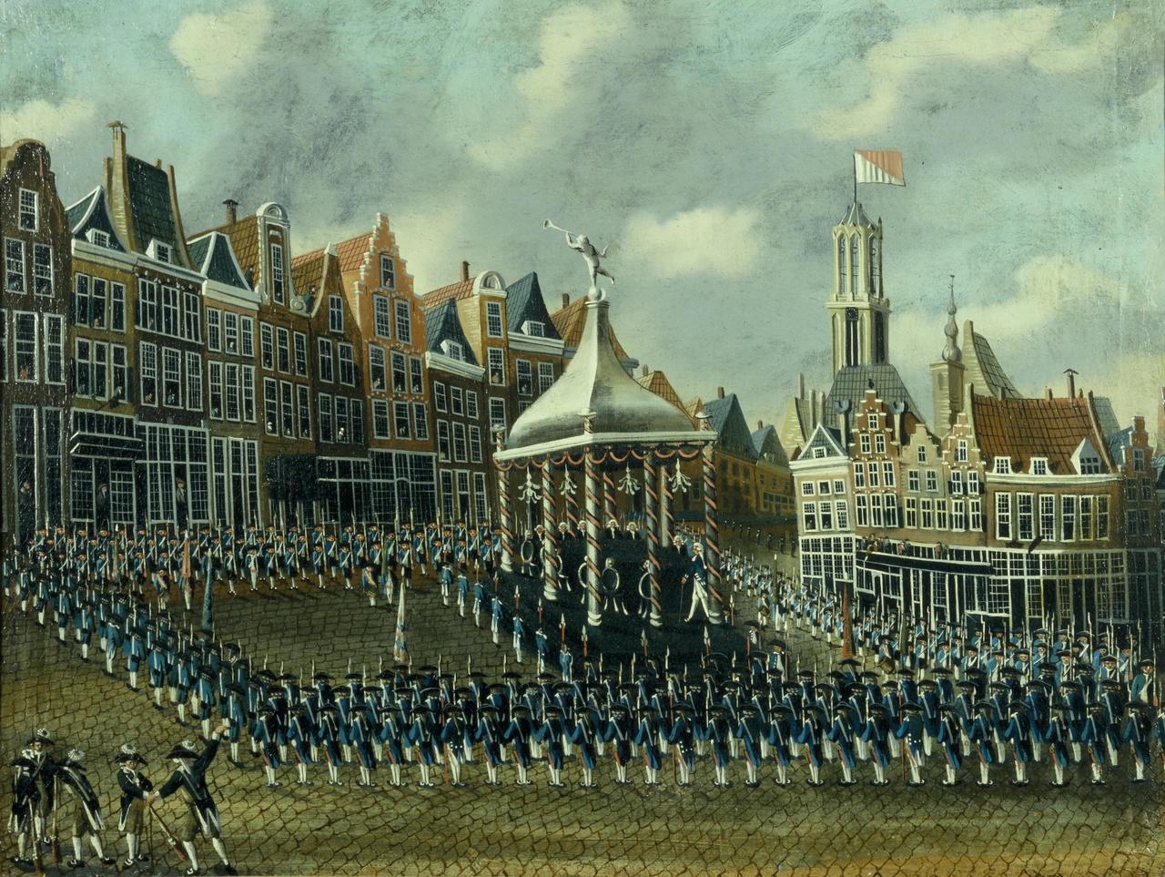 Eedsaflegging op het regeringsreglement op de Neude te Utrecht op 12 oktober 1786