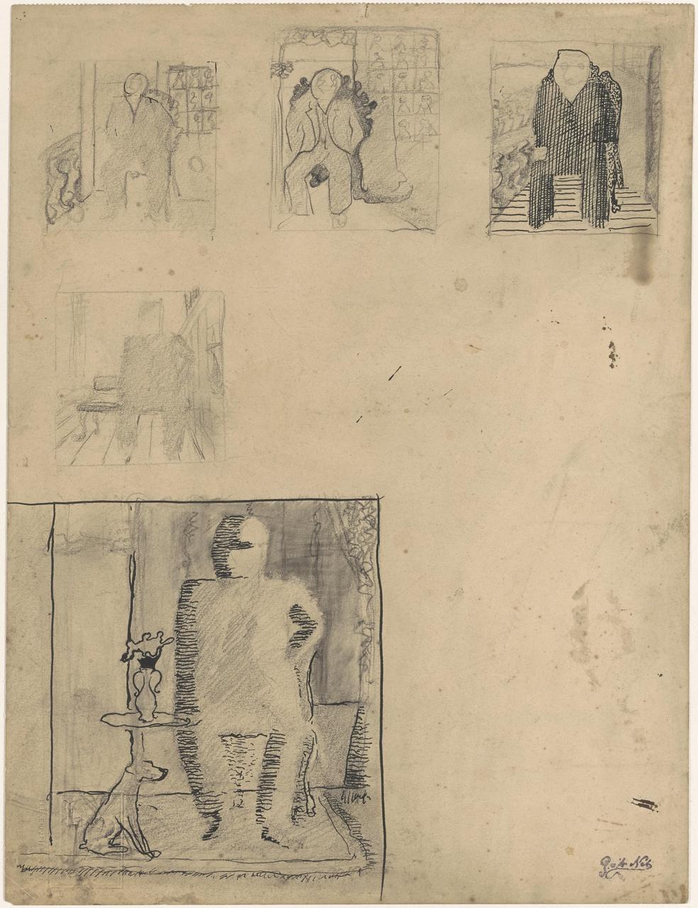 Studies voor portret van M. Vermooten